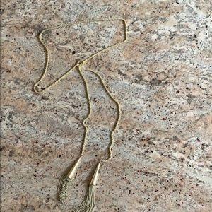 Kendra Scott Tie Tassel Necklace